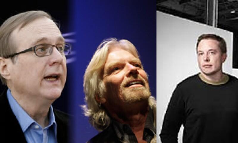 Paul Allen, Richard Branson y Elon Musk, tres de la fraternidad 'geeks en el espacio'. (Foto: Especial)