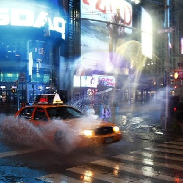 Huracán  Irene  galería  calles  Nueva York  Transporte  evacuación