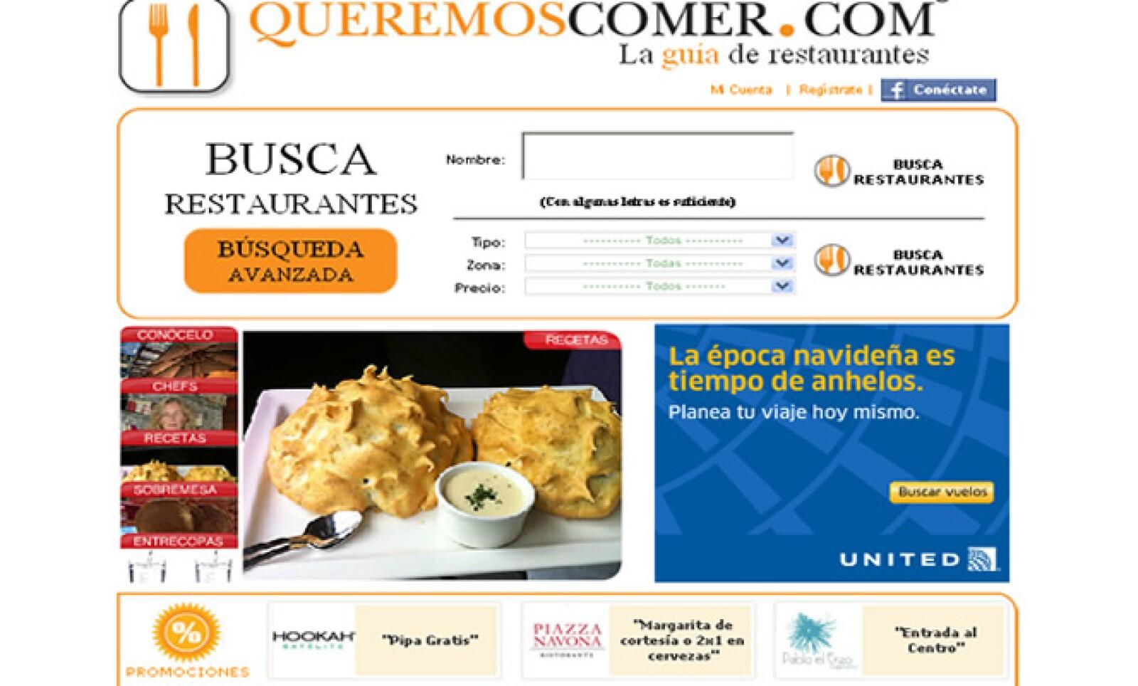 Dreamscan tiene la guía de restaurantes online más completa y detallada de la Ciudad de México, y es finalista en la categoría de 'Consumo'.