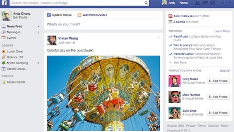 La red social iniciará con un nuevo cambio a la sección de noticias.