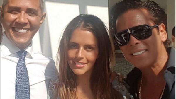 """La actriz presumió una imagen en Instagram en la que aparece con el """"presidente de Estados Unidos""""."""