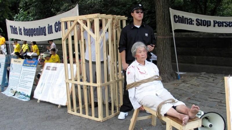 protesta china tortura