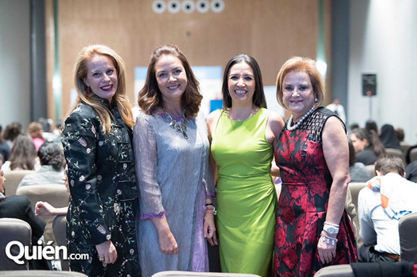 Mónica Fernández, Mónica Burillo de Larrea,Vanessa Caldera y Stella Chedraui