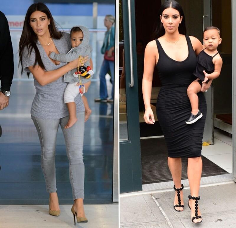 Kim es fan de vestir a su hija igual que ella.