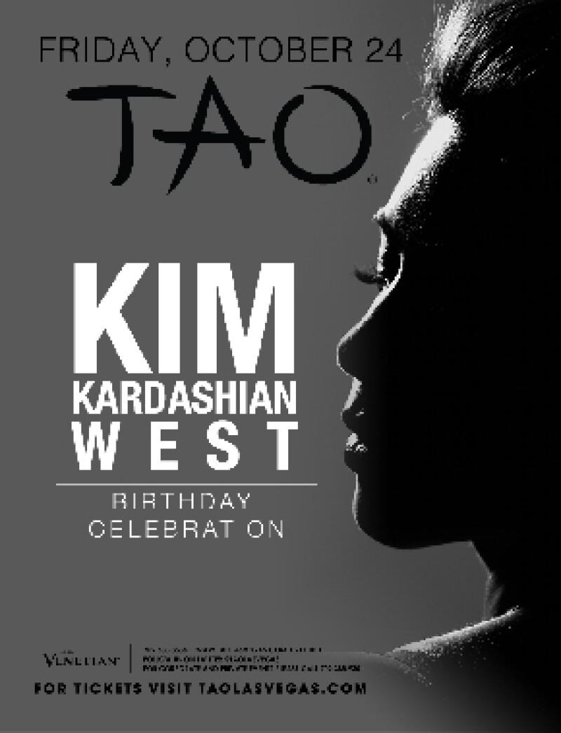 El flyer de la gran celebración de Kim.