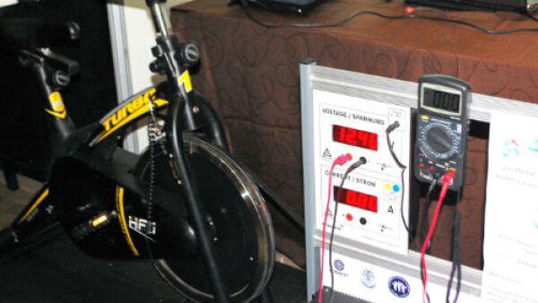 bicicleta generadora de electricidad