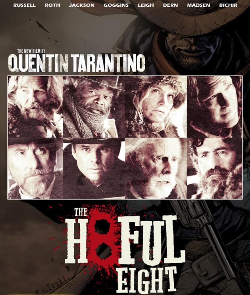 """Este miércoles se reveló el avance de la cinta """"The Hateful Eight"""", en la que participa el mexicano al lado de Samuel L. Jackson y Kurt Russell, entre otros actores."""