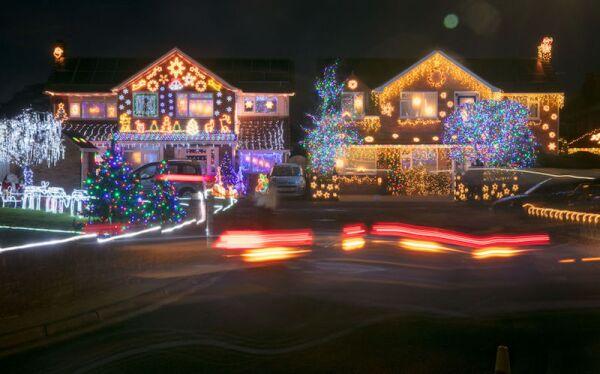 Households In Burnham-on-Sea Light Up For Christmas