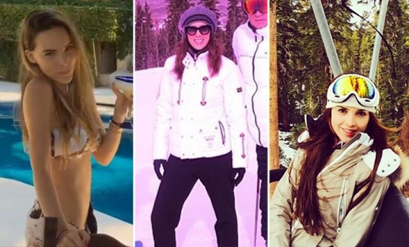 Belinda, Jacky Bracamontes y Eiza González aprovecharon estas vacaciones para probar sus habilidades y entretenerse en el agua o en la nieve. ¿Quién lo hizo mejor?