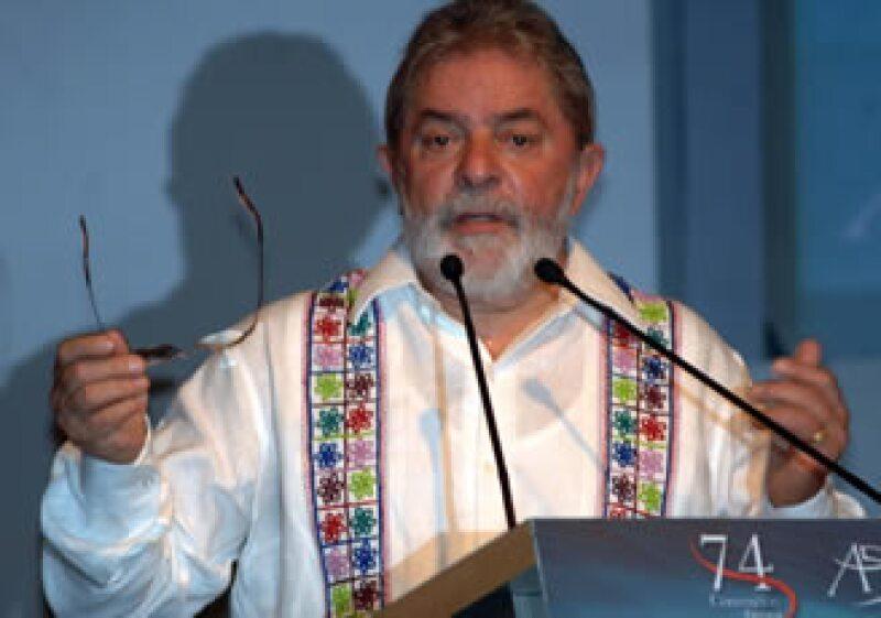 Luiz Inacio Lula Da Silva urgió a México a voltear más hacia Brasil para incrementar las relaciones de negocios. (Foto: Notimex)