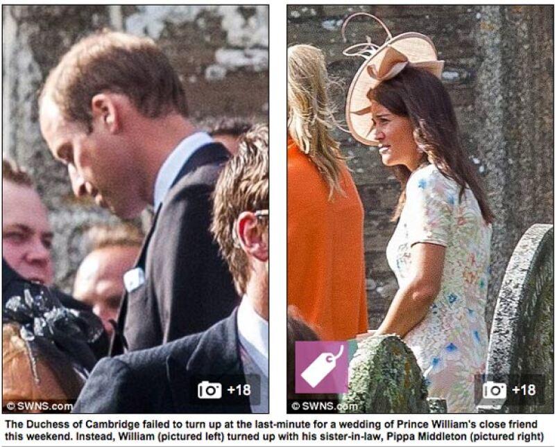 """Pippa fue la encargada de ser la """"pareja"""" de William en la boda de su amigo."""