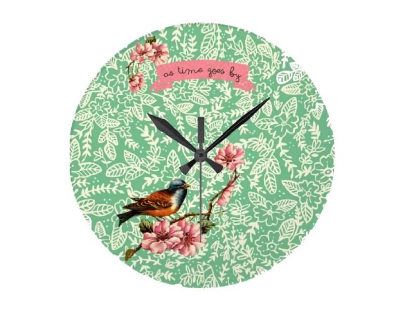 Reloj de pared As Time Goes By, Poni Lab, $463; sacional.com