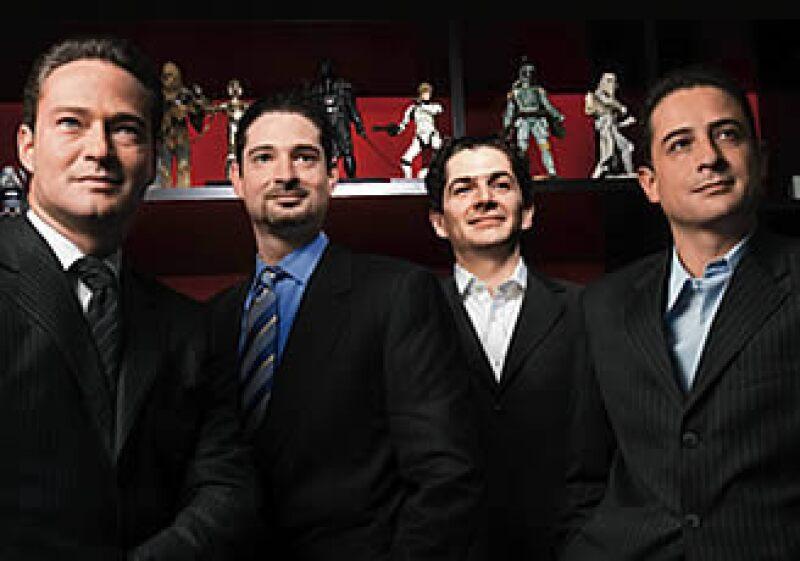 Alfredo Harp Calderoni, Charbel Harp, Ricardo G. Duprat y Alejandro Valenzuela, el equipo de Santo Domingo. (Foto: Gilberto Contreras)