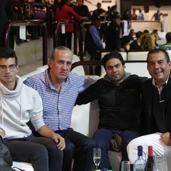 Emiliano Mandujano,Luciano Portilla,Carlos Mandujano y Pablo García