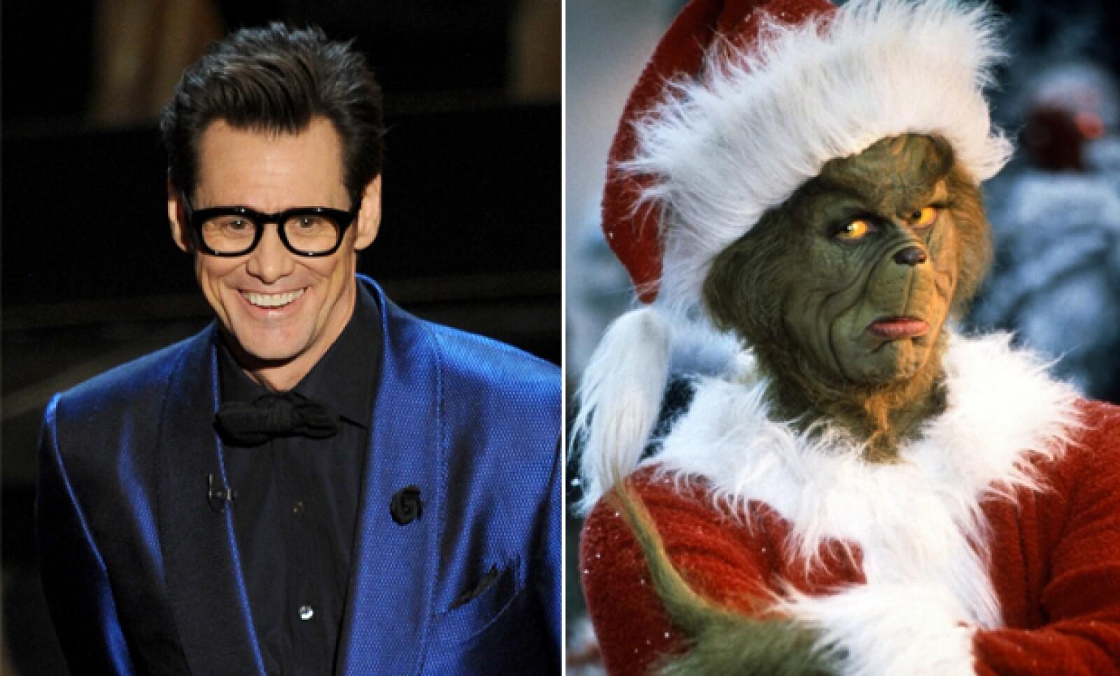 Jim Carrey es camaleónico por excelencia. Su personaje en The Grinch es sin duda, una de las caracterizaciones más impactantes que hayamos visto en la historia del cine.