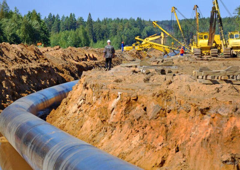 gasoducto en contrucci�n