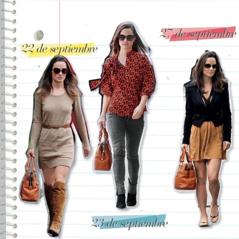 A Pippa le gusta combinar piezas de marcas high-street como Topshop o Zara con algunas de diseñador.