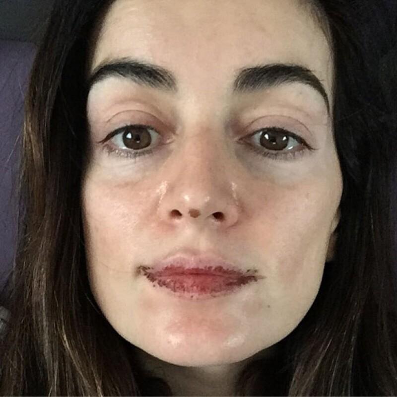 Así se ve Ana de la Reguera sin una gota de maquillaje.