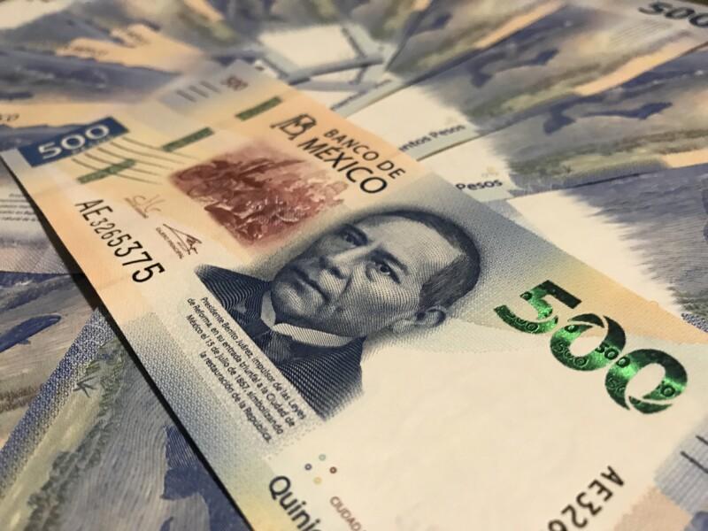 New five hundred mexican pesos bill