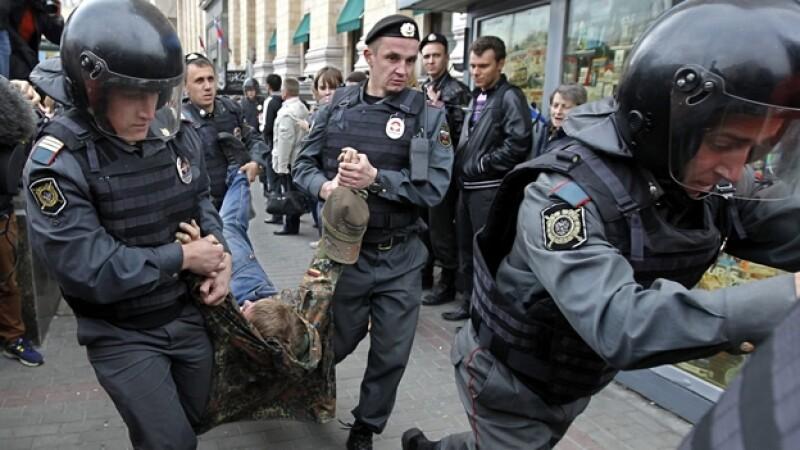 detencion de manifstantes en rusia