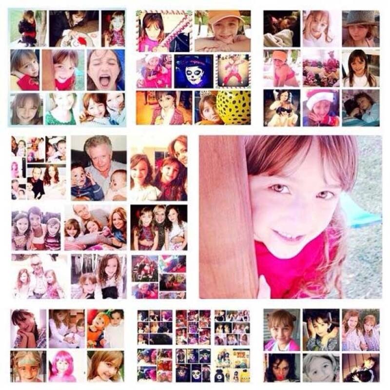 La hija pequeña de Andrea y Erik, cumplió ayer siete años de edad.