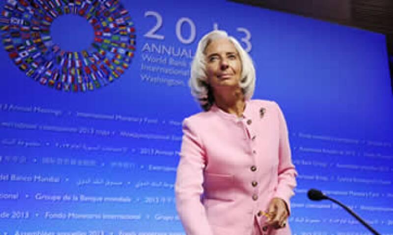 La directora del organismo, Christine Lagarde, puso atención en los problemas legislativos de EU. (Foto: Notimex)