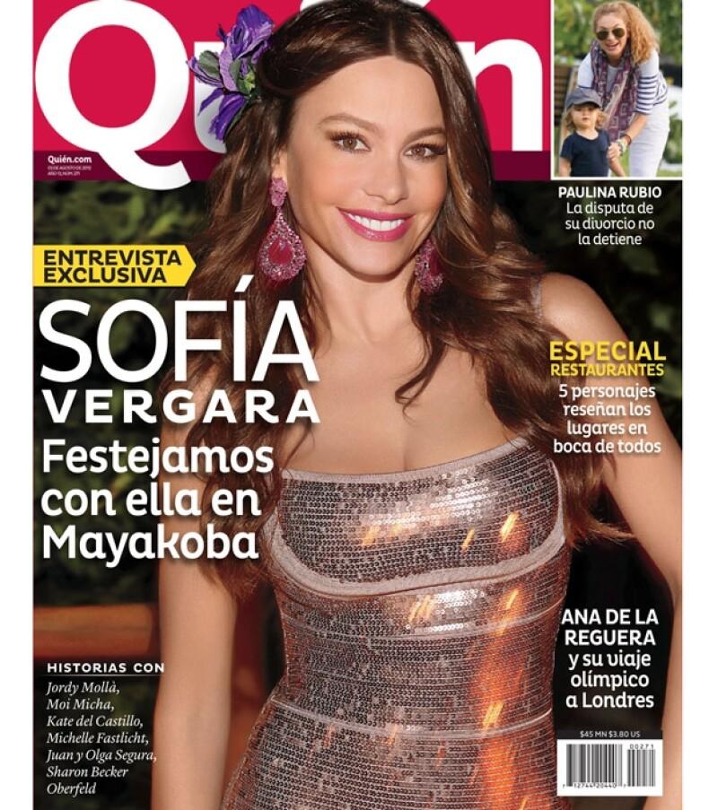 En la reciente edición de la revista Quién tenemos fotos exclusivas de la fiesta que organizó la actriz en México para celebrar su cumple.
