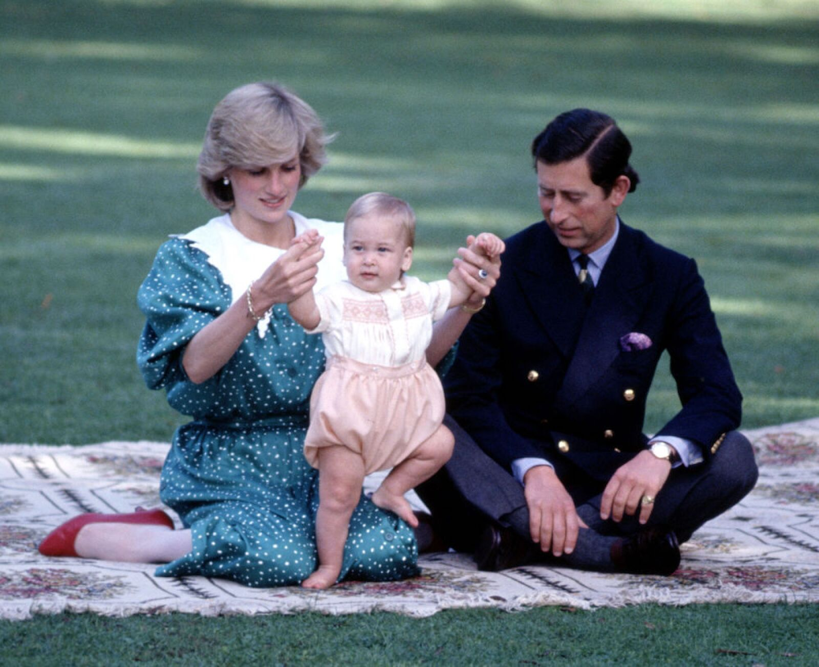 British royalty on a royal tour of New Zealand - Apr 1983