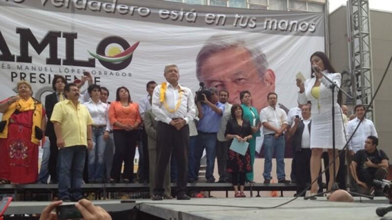 amlo andres manuel lopez obrador movimiento progresista mitin texcoco estado de mexico