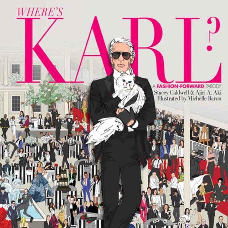 Karl Lagerfeld protagoniza la nueva versión de `¿Dónde está Waldo?´ con el libro `Wheres Karl?´.
