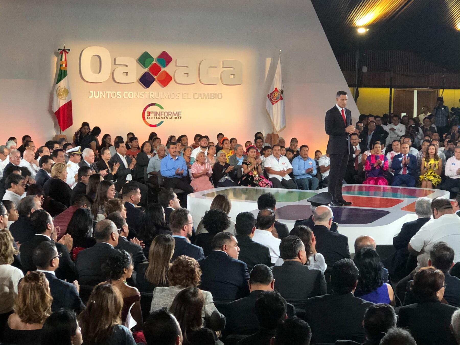 Alejandro Murat informe Oaxaca
