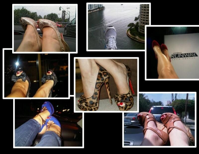 La conductora de televisión siempre luce espectacular a donde quiera que va, y una de sus características son sin duda la variedad de zapatos.