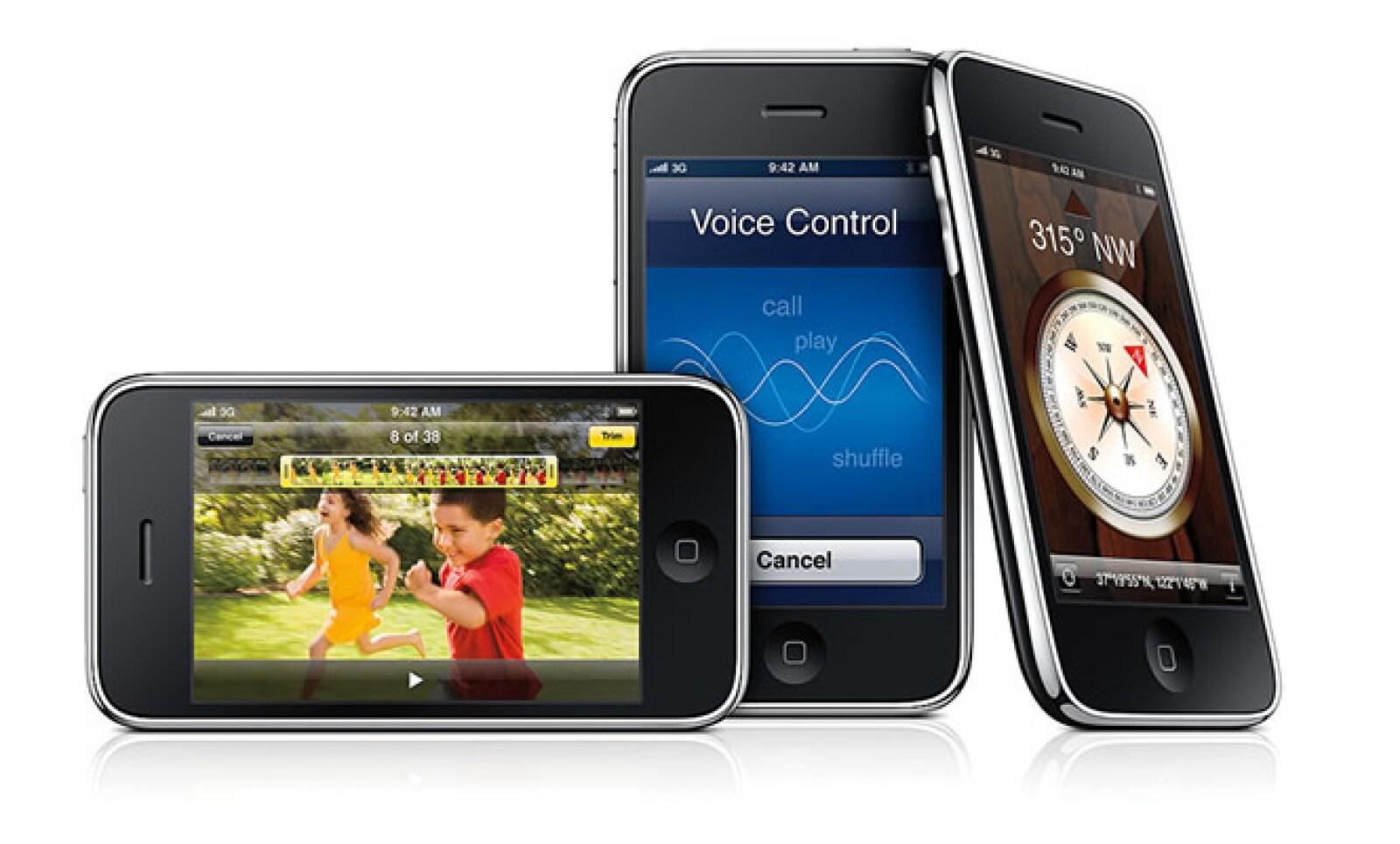 Pocos cambios visuales en el tercer modelo del iPhone, que salió al mercado el 19 de junio de 2009.