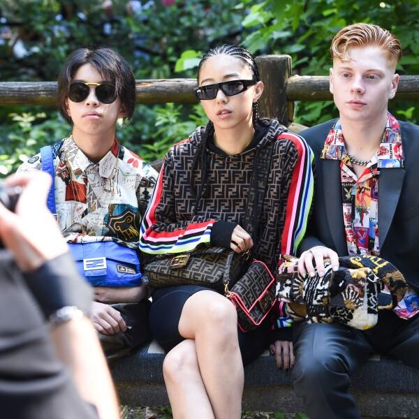 Sasaki Yoshizumi, Yuyu Yuwei Zhangzou and Leo Mandella @ FENDI MSS20 Fashion Show.jpg