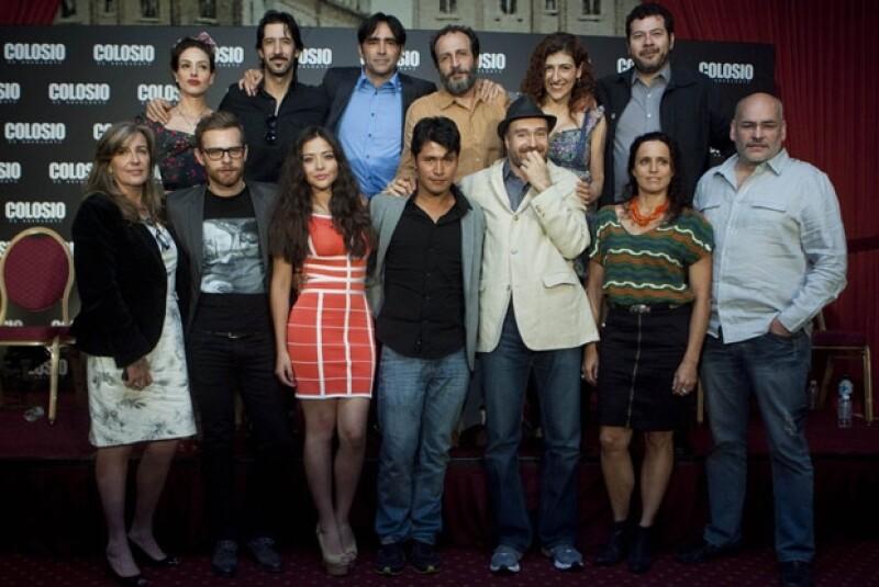 Elenco de la película `Colosio. El asesinato´, la cual fue la más galardonada.
