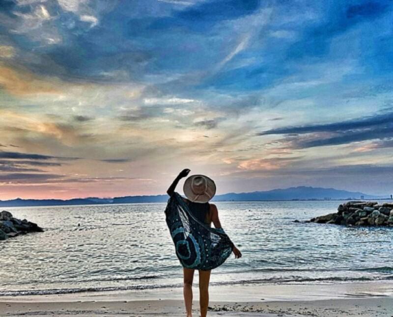 Claudia ha disfrutado en estos últimos días de unas divertidas vacaciones en la playa.