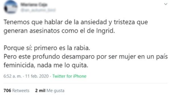 feminicidio Ingrid