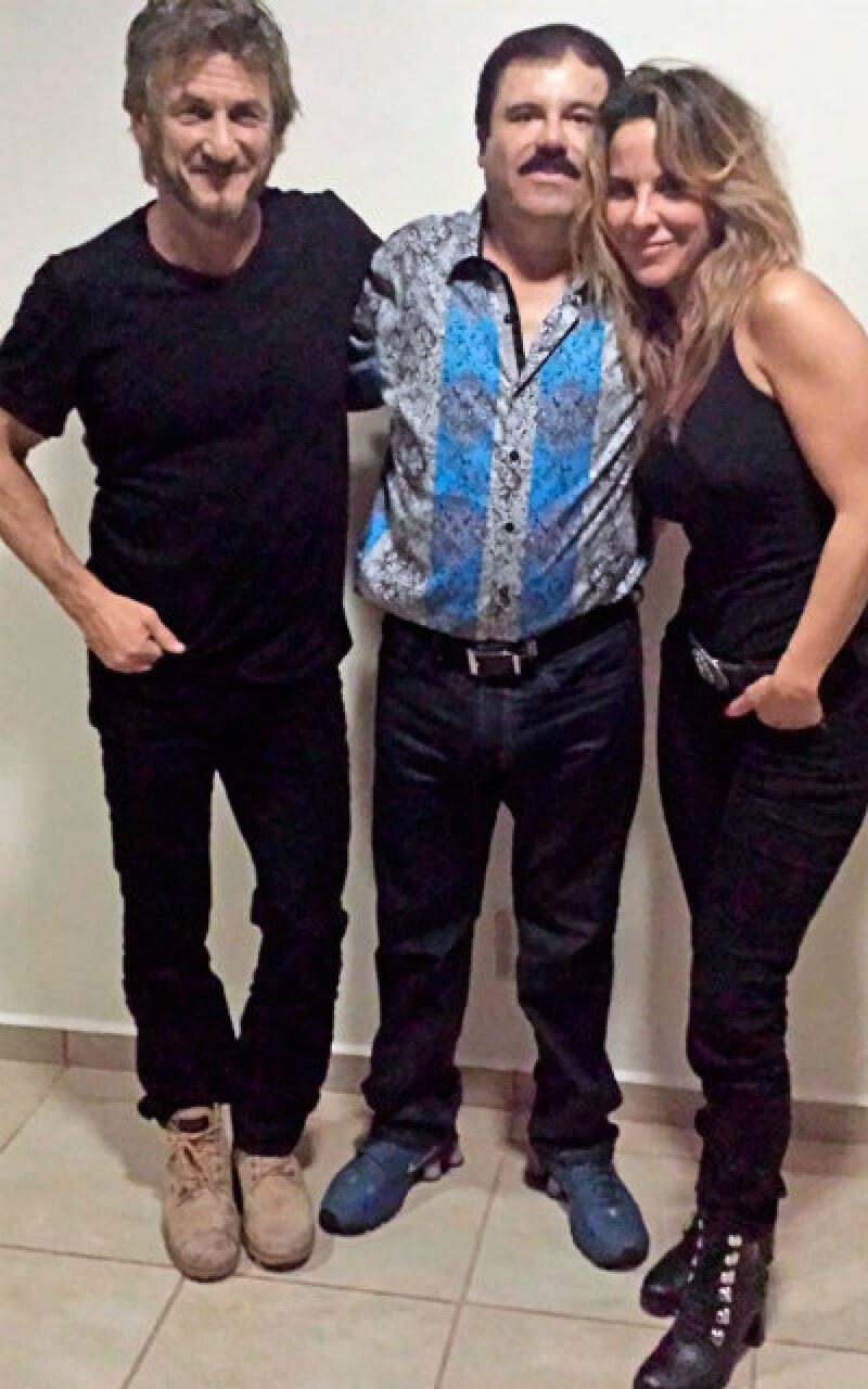 Sean Penn, Joaquín Guzmán y Kate del Castillo