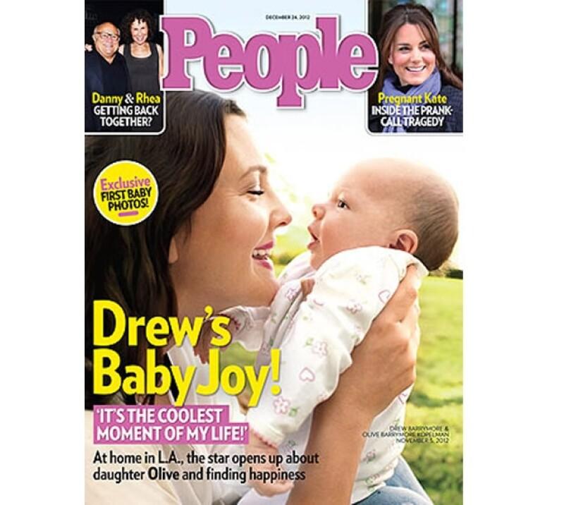 La actriz debutó como mamá hace dos meses y finalmente decidió que el mundo conociera a su hija en la portada de People.