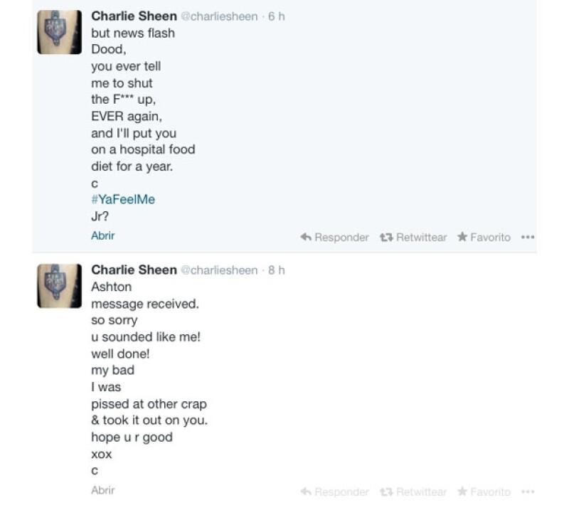 Esta fue la respuesta ante la petición de Ashton sobre dejar de molestarlo en Twitter.