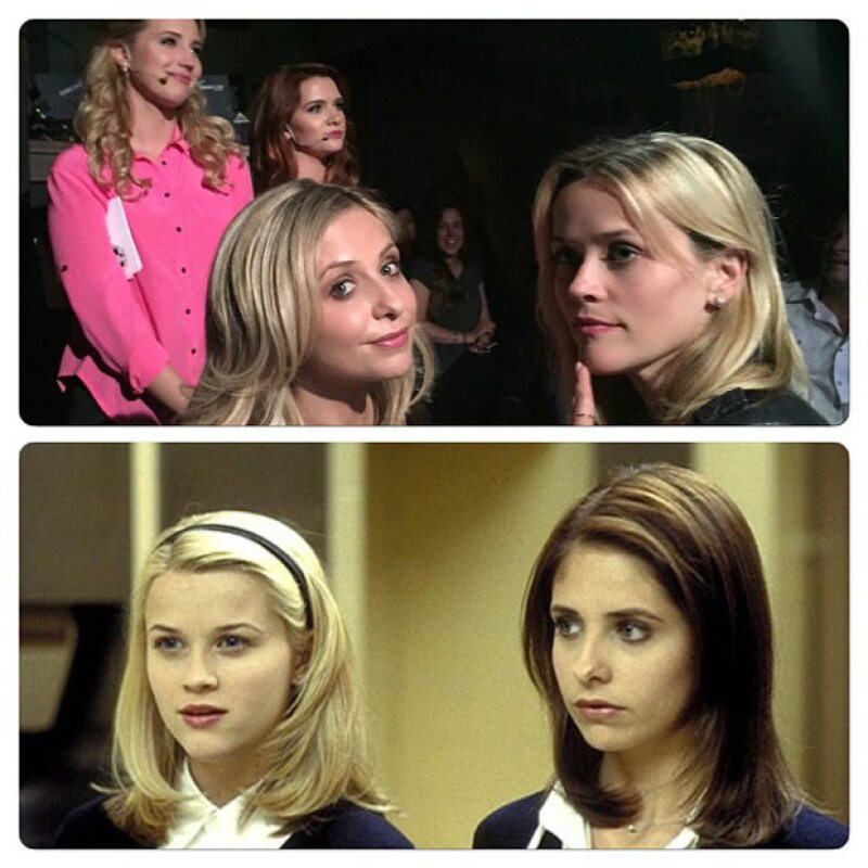 Durante su paso por el backstage del musical de Cruel Intentions, Sarah compartió el antes y después de Kathryn y Annette.