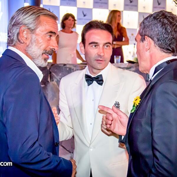 Enrique Ponce, Imanol Arias y Antonio Banderas