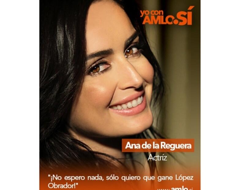 La actriz es imagen de una campaña en pro de López Obrador.