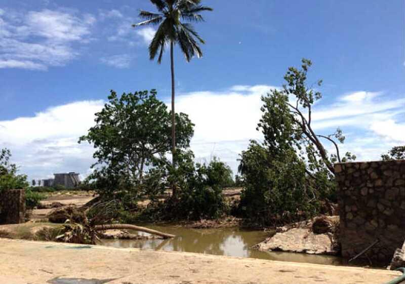 Comunidad afectada en Acapulco,Guerrero