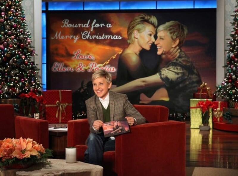 Es el segundo año que Ellen hace broma de las acciones de Kim en su postal navideña.