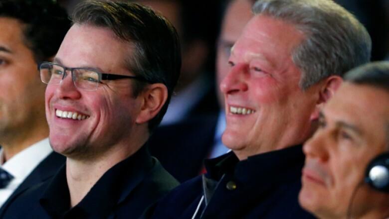 Entre los invitados a la Ceremonia Cristal se encontraban el exvicepresidente de EU Al Gore y el actor Matt Damon.