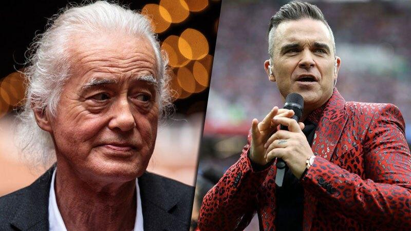 Jimmy Page y Robbie Williams