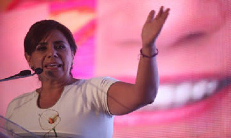 La candidata Luisa María Calderón destacó que el puerto Lázaro Cárdenas puede generar mucha riqueza. (Foto: Cuartoscuro )