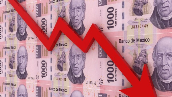 Mexican money peso falling finance crisis