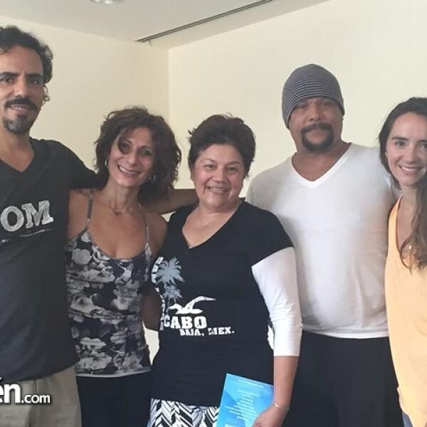 Jorge Espinosa,Lygia Lima,Aide Castro,Javier Bautista y Regina Marco.